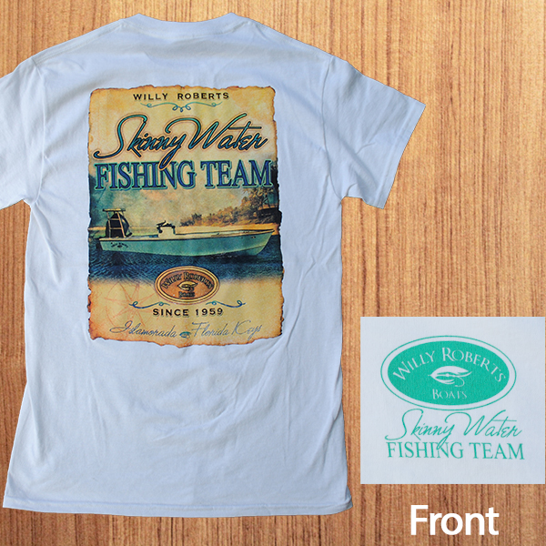 Willy roberts fishing team tee willy flats boats shop for Fishing team shirts